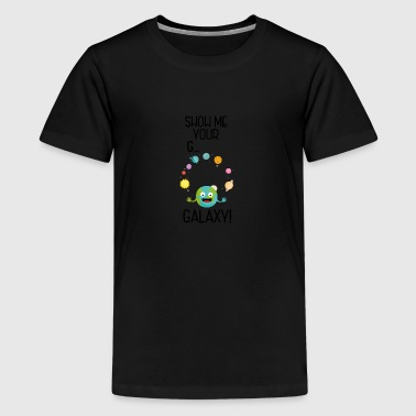 Galaxy Funny Saying Sb7va - Teenage Premium T-Shirt