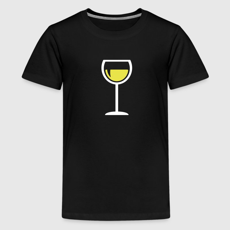Wijnglas - Teenager Premium T-shirt