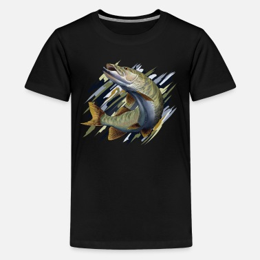 Pik Fisk Pike - Teenager premium T-shirt