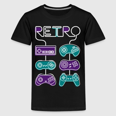 Retro gaming - Teenage Premium T-Shirt