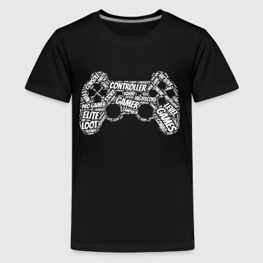 game controller wordart - Camiseta premium adolescente