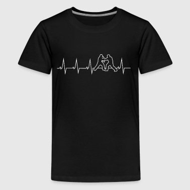 I love escrima - heartbeat - Teenage Premium T-Shirt