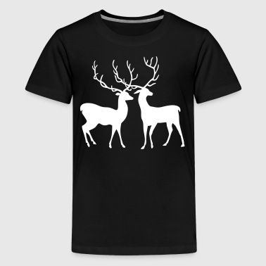 Hirsche - Teenager Premium T-Shirt