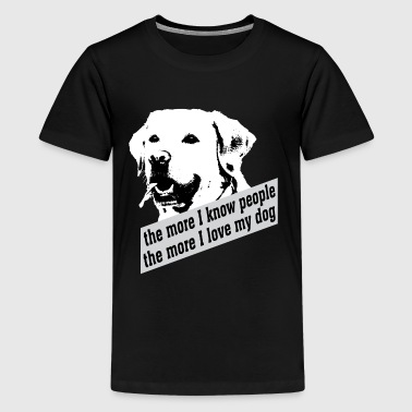 love my dog labrador hund liebe Fan - Teenager Premium T-Shirt