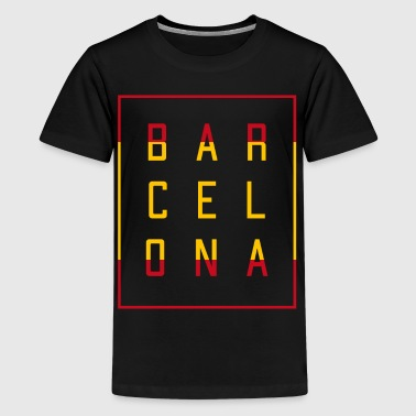 Barcelona Spanien - Teenager Premium T-Shirt