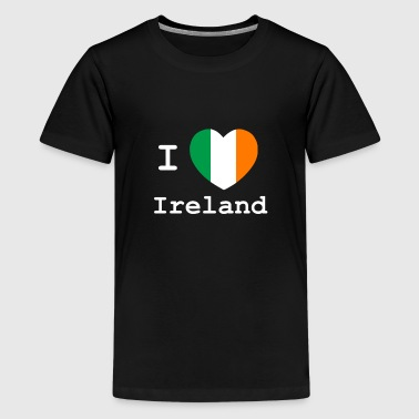 I love Ireland weiß - Teenager Premium T-Shirt