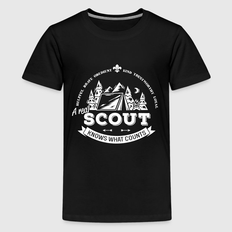 A real scout knows what counts - Camiseta premium adolescente
