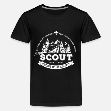 Scouts A real scout knows what counts - Camiseta premium adolescente