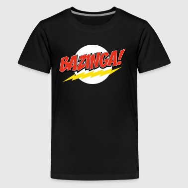 The Big Bang Theory Bazinga Premium T-skjorte for  - Premium T-skjorte for tenåringer
