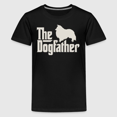 The Dogfather - Shetland Sheepdog Sheltie - Teenage Premium T-Shirt