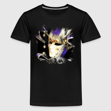 Masquerade Mysterious masquerade with beautiful mask - Teenage Premium T-Shirt
