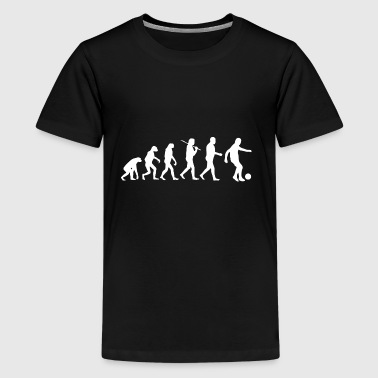 Soccer Fan Soccer Soccer Ball Evolution - Teenage Premium T-Shirt