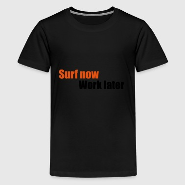 2541614 13462595 surf - Teenager premium T-shirt