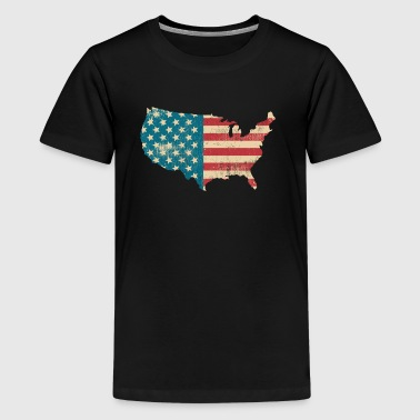 Amerika Vintage Flagge - United States - USA-Land - Teenager Premium T-shirt