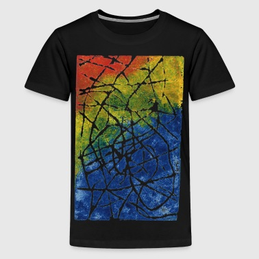 Kromatisk Labyrint - Teenager premium T-shirt