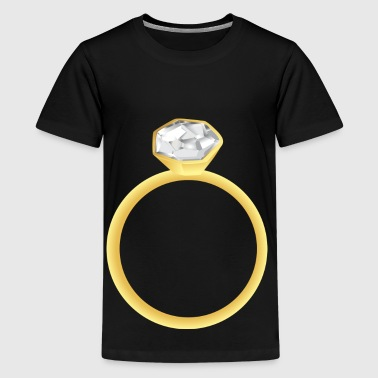 diamond ring - Teenage Premium T-Shirt