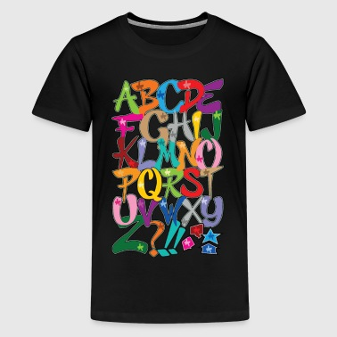 Alphabet - Teenager Premium T-Shirt