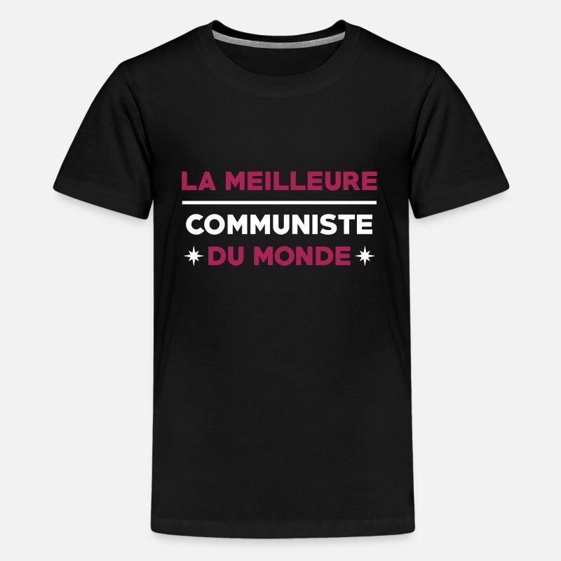 Anticapitalisme T-shirts - Communisme / Communiste / Syndicat / Politique - T-shirt premium Ado noir