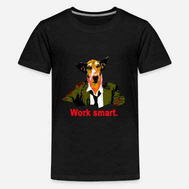 Terrier work smart jack russell - Teenager premium T-shirt