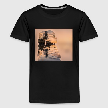 Double Exposure Double Exposure Effect - Teenage Premium T-Shirt