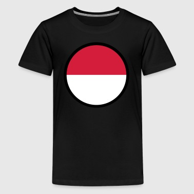 Sepak Takraw Under The Sign Of Indonesia - Teenage Premium T-Shirt