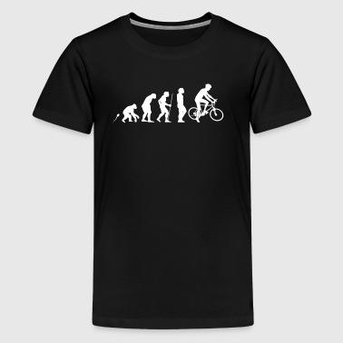 Mountainbiker trekking mtb - Teenage Premium T-Shirt