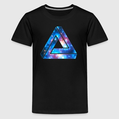 Penrose Tribar, driehoek, universe, Galaxy, - Teenager Premium T-shirt