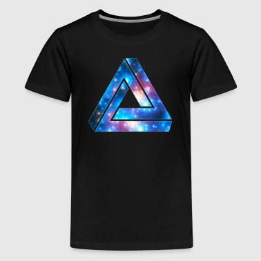 Penrose Tribar, triangle, universe, Galaxy, - Teenage Premium T-Shirt