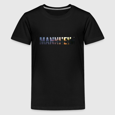 City Skyline Mannheim - Teenager Premium T-Shirt