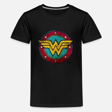 Woman DC Comics Wonder Woman Logo Used Look - Teenager Premium T-Shirt