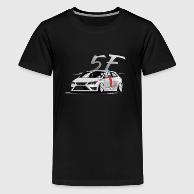 Leon 5f fr, Low, Deep, Stanced, Cupra Skulldriver - Teenager Premium T-Shirt