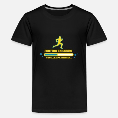 Course À Pied Humour FOOTING EN COURS - T-shirt Premium Ado