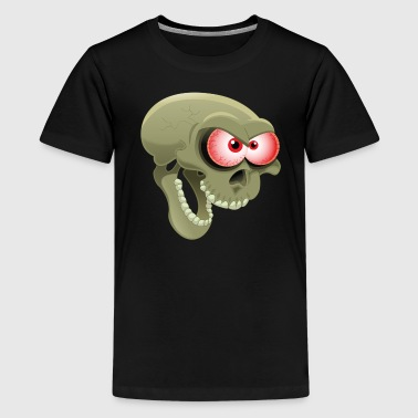 Comic Totenkopf Horror - Teenager Premium T-Shirt
