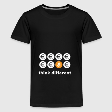 Think different Bitcoin - Teenager Premium T-shirt
