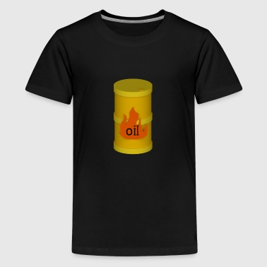 Yellow oil barrel - Teenage Premium T-Shirt