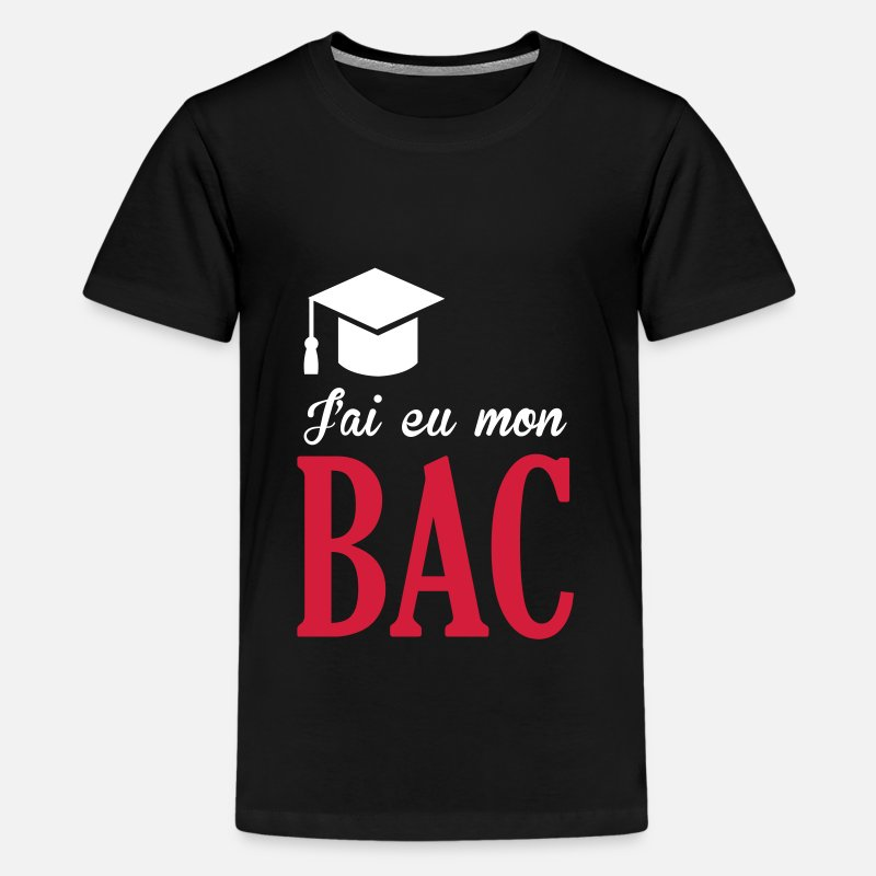 Baccalauréat T-shirts - BAC / Ecole Diplome Etudiant Diplôme baccalauréat - T-shirt premium Ado noir
