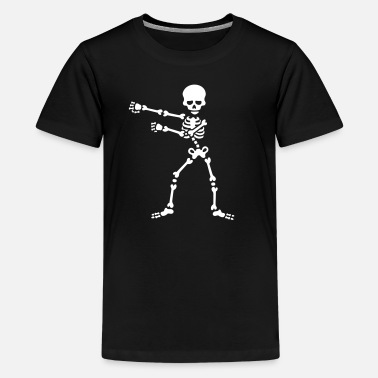 The floss dance flossing backpack boy kid skeleton - Teenage Premium T-Shirt