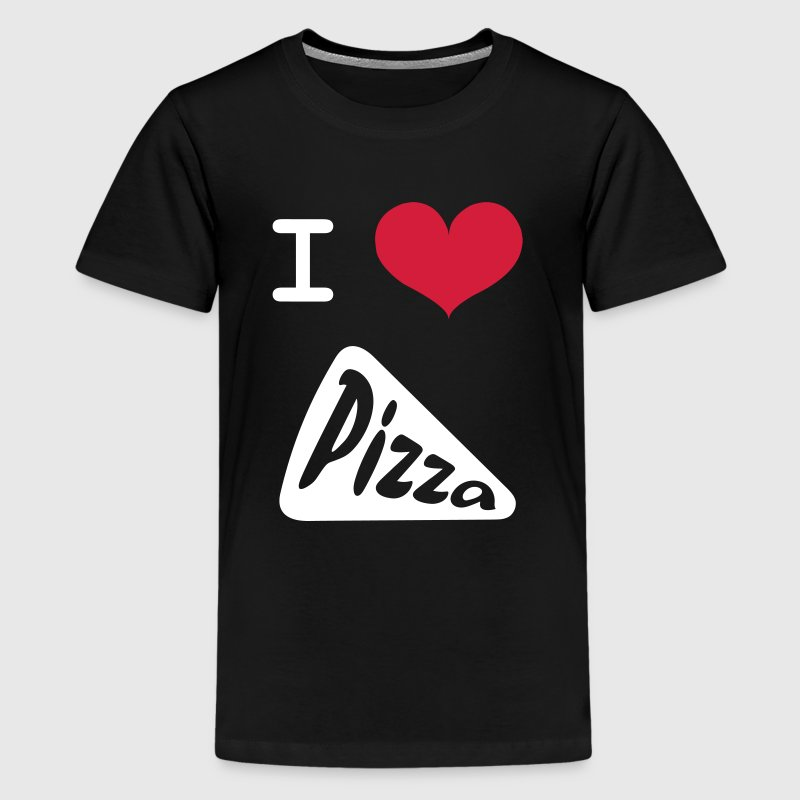 I Love Pizza - Teenage Premium T-Shirt