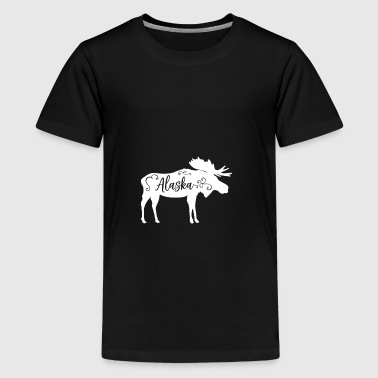 Distressed Alaska - Teenage Premium T-Shirt