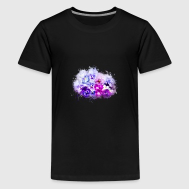 Pansy isolated brightly glowing - Teenage Premium T-Shirt
