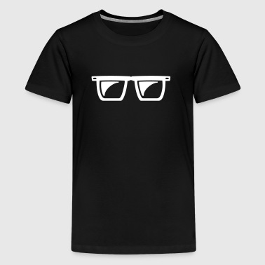 Nerd glasses gift for nerds - Teenage Premium T-Shirt