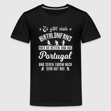 Biathlon T-Shirt Portugal Geschenk - Teenager Premium T-Shirt
