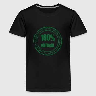 100% Natural - Premium-T-shirt tonåring