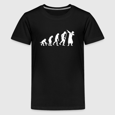 Evolution dab dabbing graduation college student - Premium T-skjorte for tenåringer