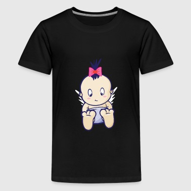 Baby girl girl with a bow - Teenage Premium T-Shirt