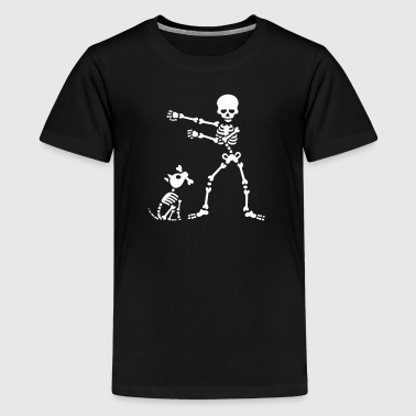 Flossing floss like a boss skelet hund dans - Teenager premium T-shirt