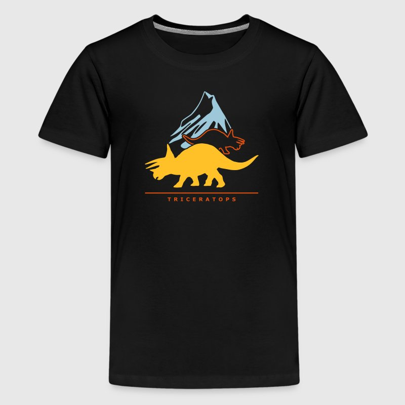 Urzeitriesen: Triceratops - Teenage Premium T-Shirt