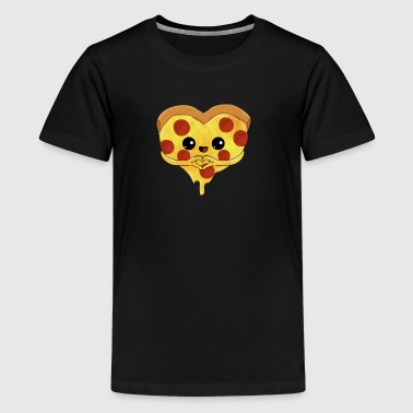 Pizza heart - love mother's day gift sweet child - Teenage Premium T-Shirt