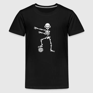 Funny Water Polo Water polo floss flossing skeleton Halloween - Teenage Premium T-Shirt