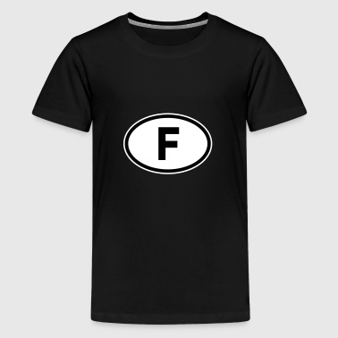 F France - Teenage Premium T-Shirt